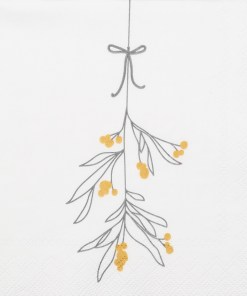christmas mistletoe napkin