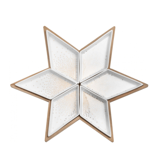 star plate serving bowls