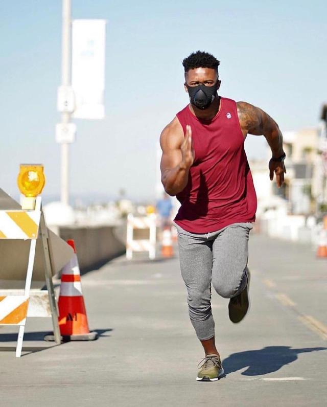 wearing a face mask while running