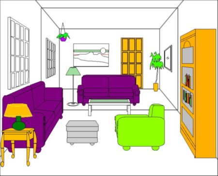 Our Ez-Architect interiors library gives perspective views of your rooms. It has 968 objects!