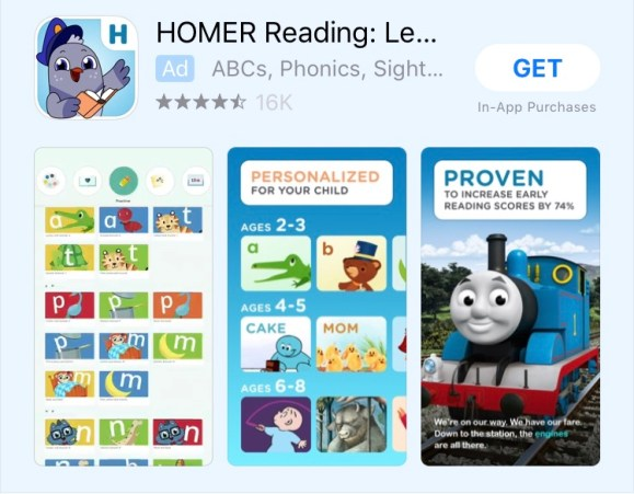 The Best Reading and Writing Apps homer app