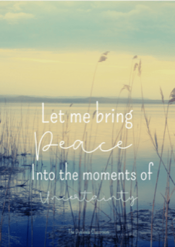 Bringing Peace In Difficult Times