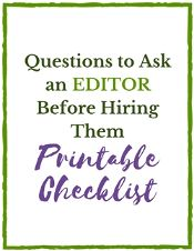 Questions to Ask an Editor Before Hiring Them Printable Checklist Thumbnail