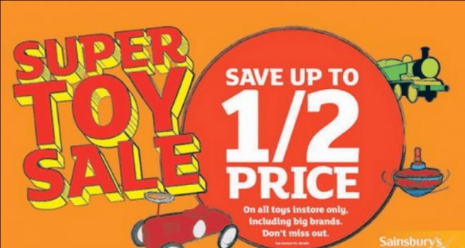 Sainsburys Toy Sale