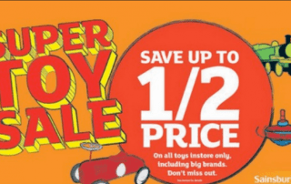 Sainsburys Toy Sale