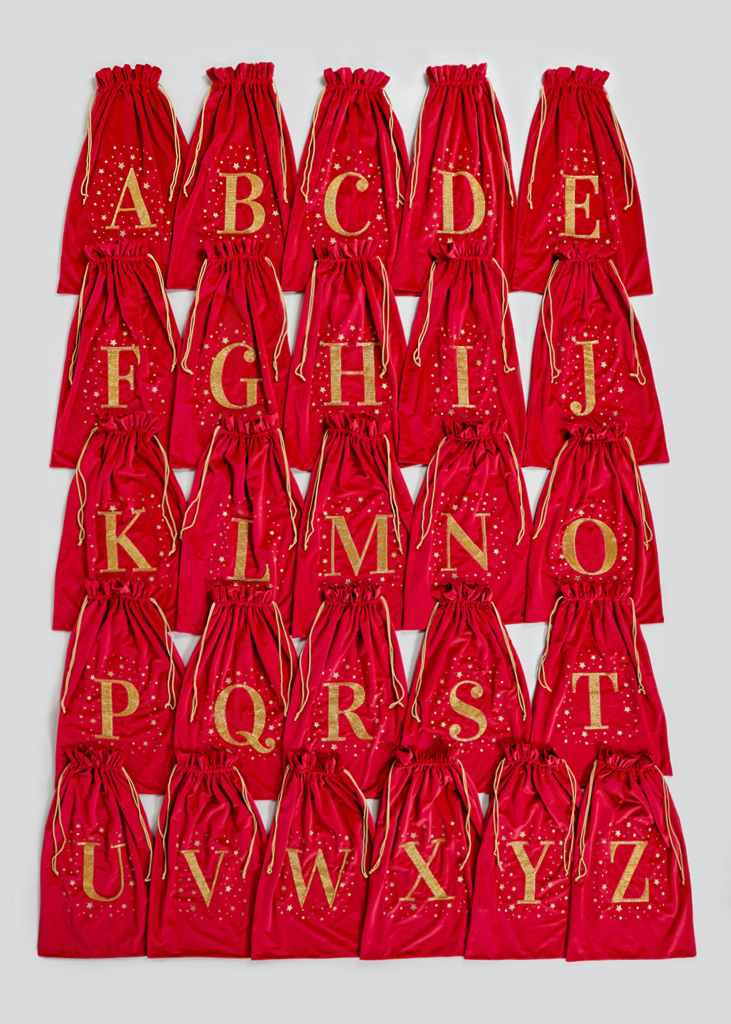 Alphabet Christmas Sacks