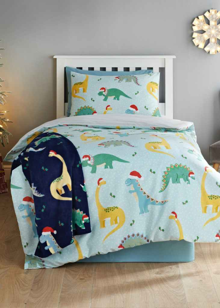 Dinosaur Christmas Bedding