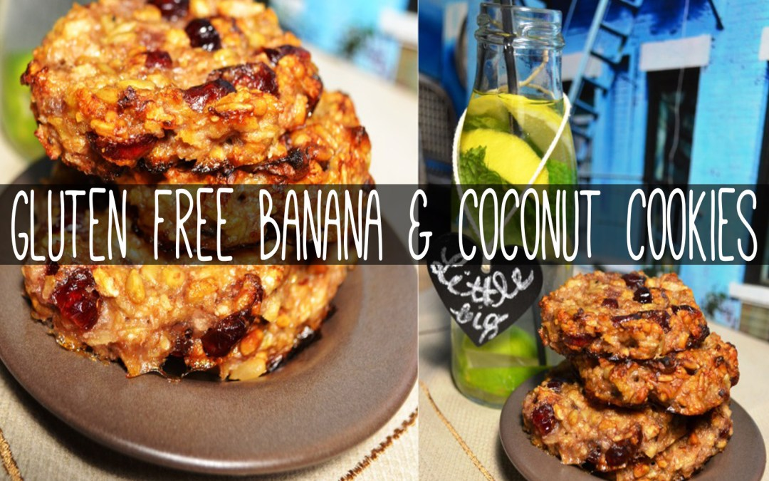Banana & Coconut Cookies (gluten free, egg free, diary free, kid friendly)