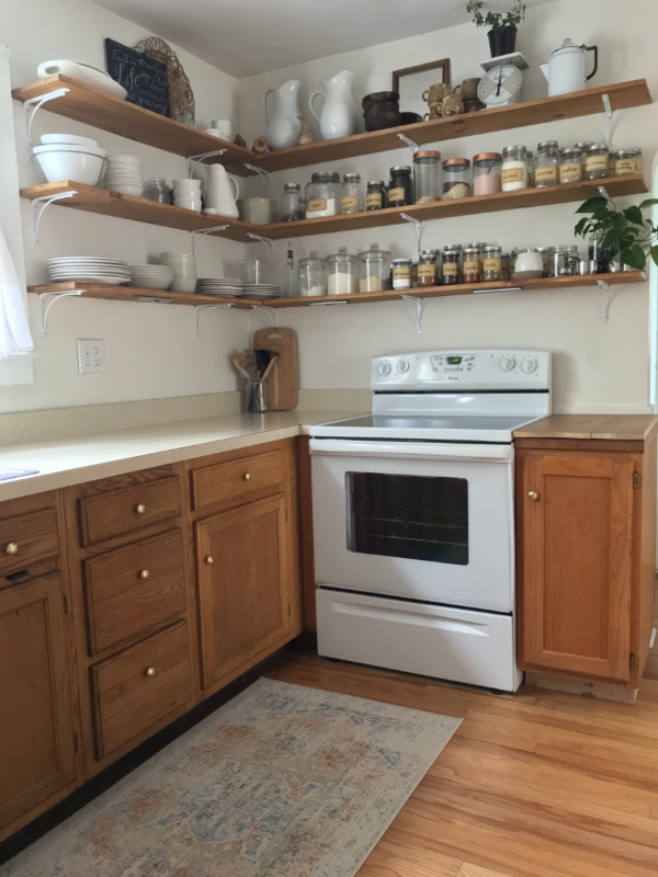 Our Painted Kitchen Cabinets The Little By Little Home