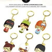 Luli Bunny - Momiji Book Club Dolls enamel key chains