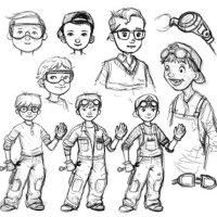 OnceUponASketch - Donald Wu Character Development