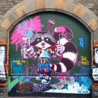 Raccoon Paint by graffiti artist SPZero76