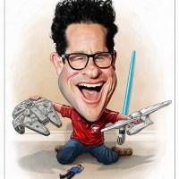 JJ Abrams Star Wars / Star Trek Caricature Portrait