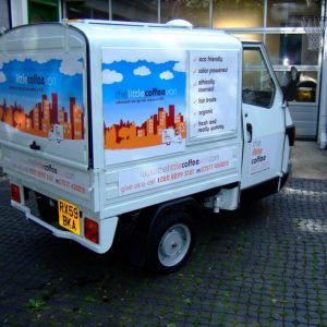 Branded events mobile coffee van