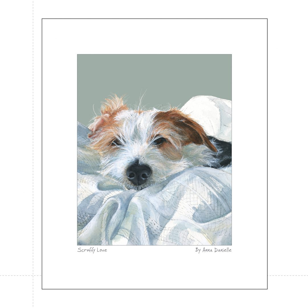 Jack Russell Art Print Scruffy Love The Little Dog Laughed