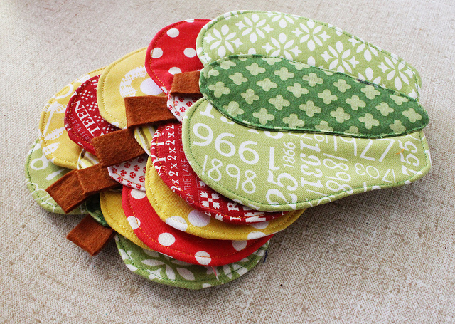 Bell Pepper Coaster_Patchwork Please_Ayumi Takahashi_handmade Coaster