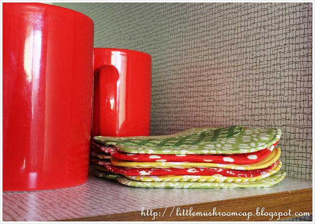 Bell Pepper Coaster, Patchwork Please, Ayumi Takahashi handmade Coaster