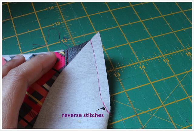 Tote tutorial _ faux leather _ nordika _ free tutorial_sew darts