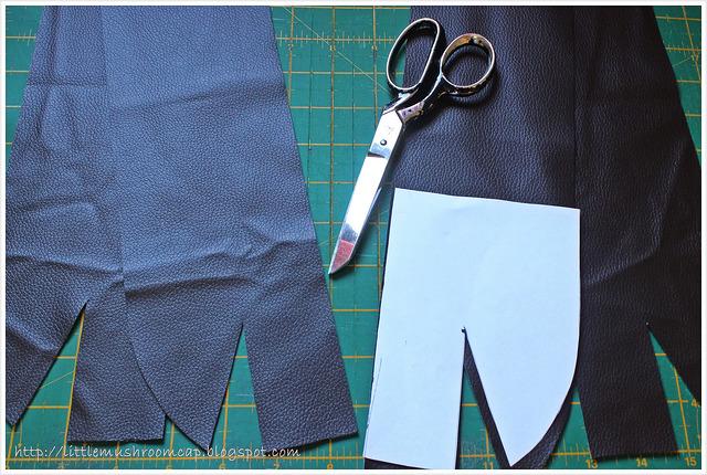 Tote tutorial _ faux leather _ nordika _ free tutorial_cutting corners