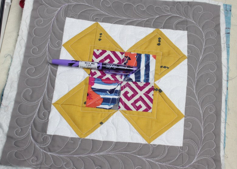 Free Motion Quilting on Block July Fourth | Sewcial Bee Sampler