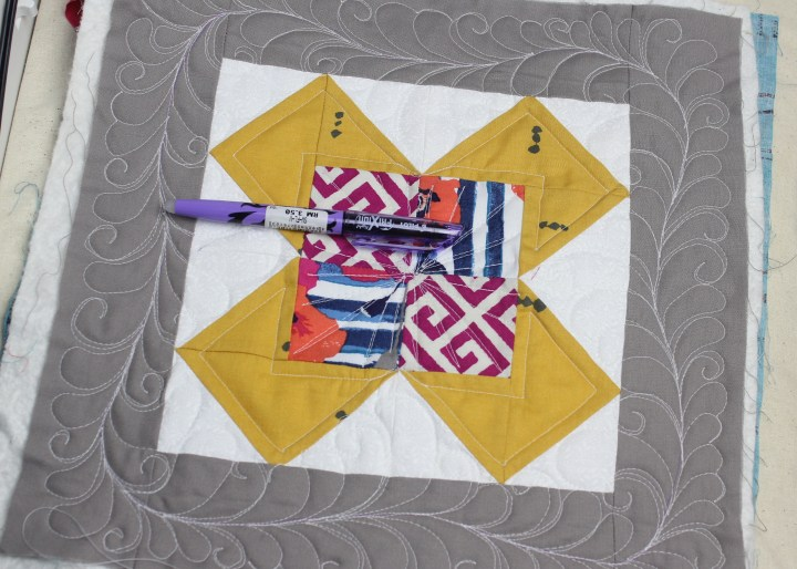 Custom Free Motion Quilting Quilt As You Go Blocks   Free motion quilting Tips and Tutorial on the blog