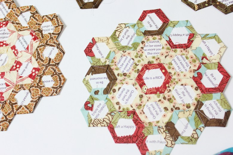 5 ways to stitch shapes together using English Paper Piecing method