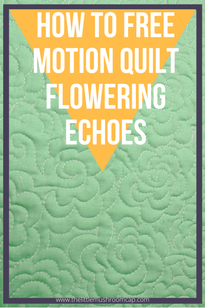 How to free motion quilt flowering echoes