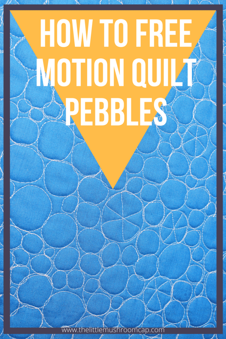 learn how to free motion quilt pebbles