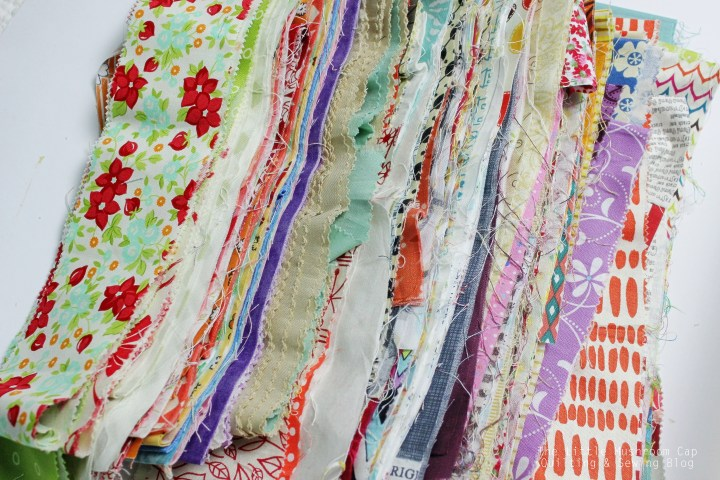 Sorting scraps and strips of fabrics
