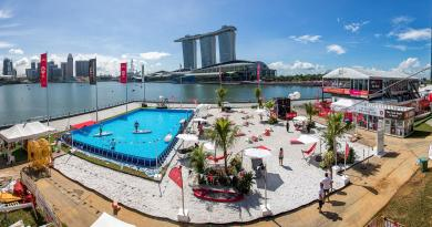 Singapore's First Pop Up Urban Beach DBS Marina Regatta
