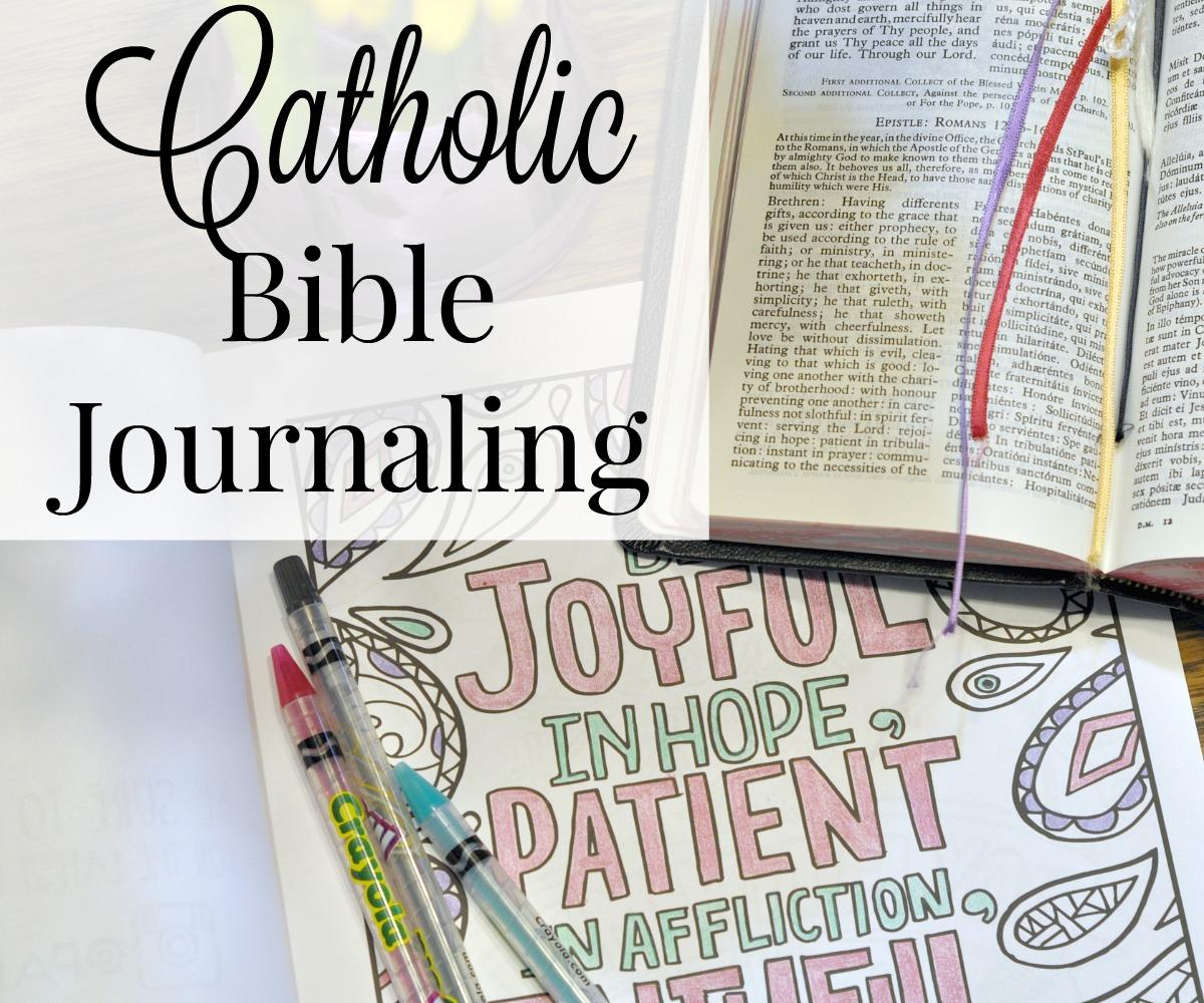 Catholic Bible Journaling The Littlest Way