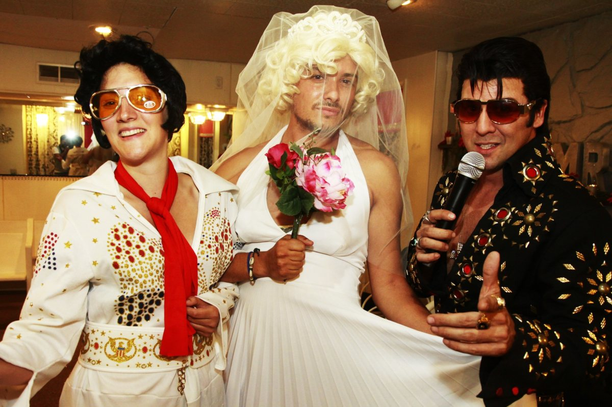 Woman as Elvis, Man as Marilyn