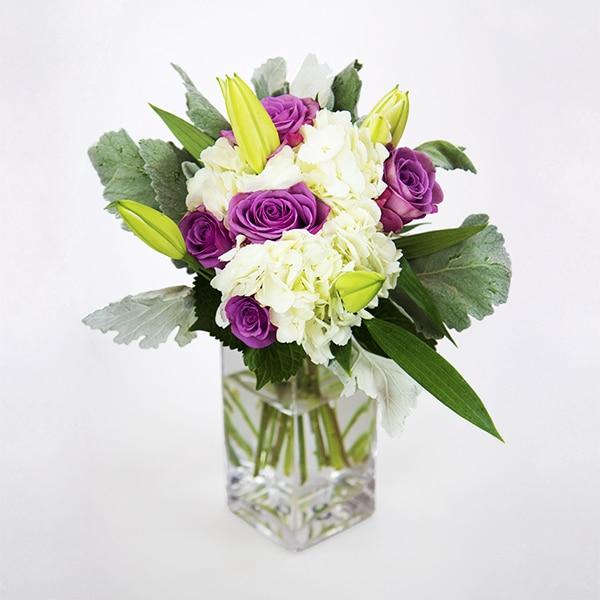 Hydrangea Bouquet Roses Lillies