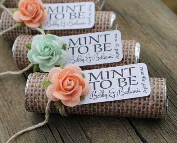 Mint to Be Cheap Wedding Favor