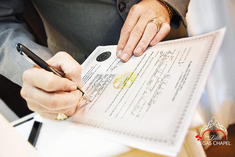 Pop up wedding license in Las Vegas