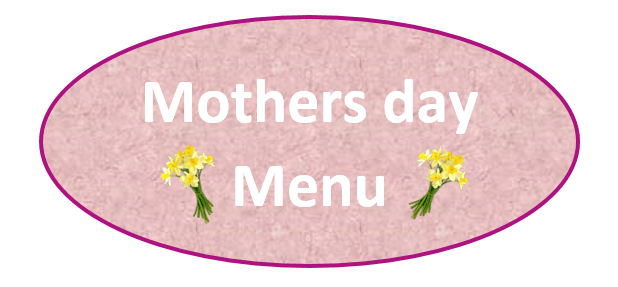 New Mothers Day Menu
