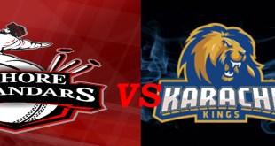 Lahore Qalandar vs Karachi kings live score PSL t20 2016