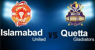 PSL 11th T20 Islamabad United VS Quetta Gladiators Live 11th Feb 2016 Match