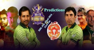 Quetta Gladiators Vs Islamabad United PSL 2016 Final Match Predictions