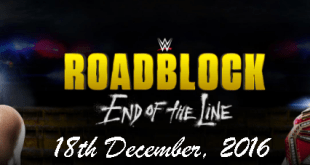 WWE Roadblock 2016 date and time in India, poster
