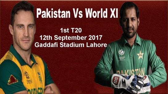 Pakistan Vs World XI 1st T20 Live Online, Squads, Time, Tv Channels