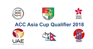 Asia Cup Qualifier Schedule 2018