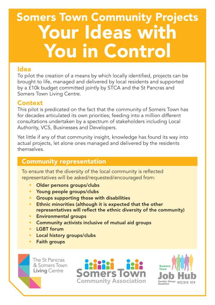 Somers Town Community Project: Your ideas with you in control