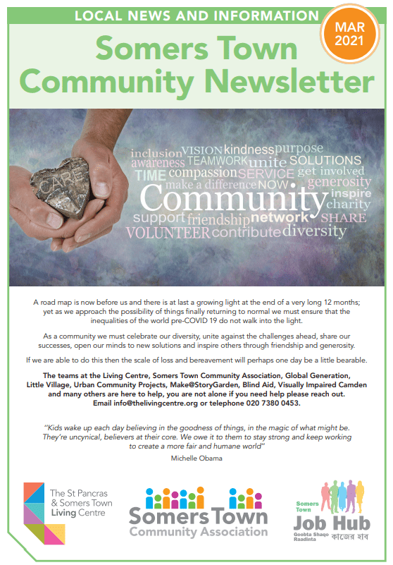 Somers Town Community Newsletter March 2021
