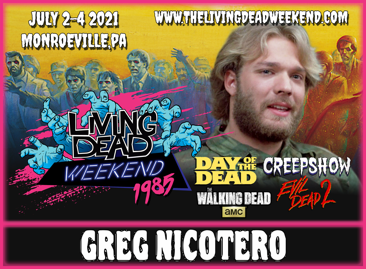 Greg Nicotero Guest at Living Dead Weekend in Monroeville the Walking Dead Creepshow Romero's Day of the Dead