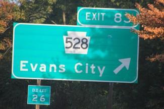 Visiting Evans City