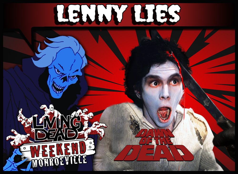 The Living Dead Weekend Leonard A Lies Machete Zombie in George A Romero Dawn of the Dead Monroeville Mall Horror Special FX