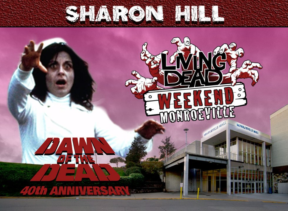 Living Dead Weekend Monroeville Mall June 8-10 2018 Sharon Hill George Romero Dawn of the Dead Nurse Zombie