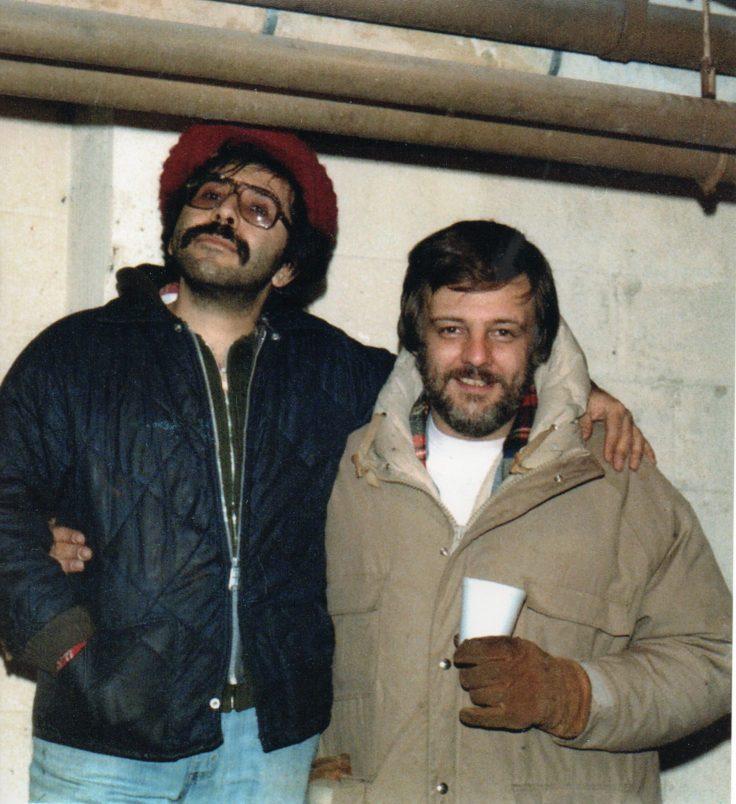 Tony Buba and George A Romero on the set of Martin Romero's Vampire flick