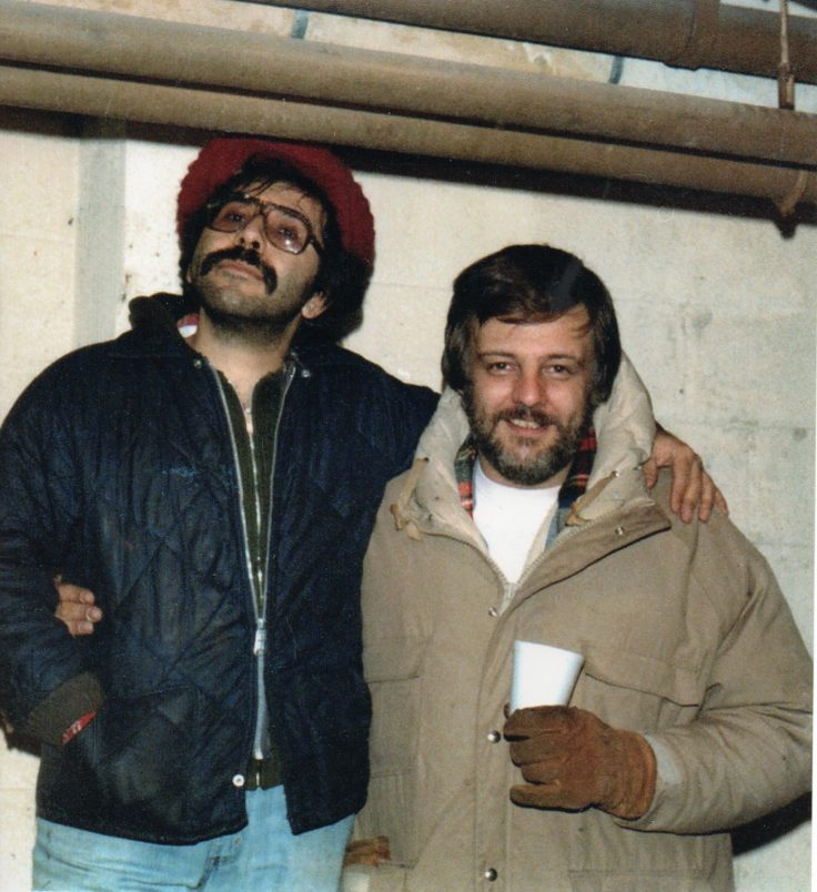 Tony Buba and George A Romero on the set of Martin Romero's Vampire flick